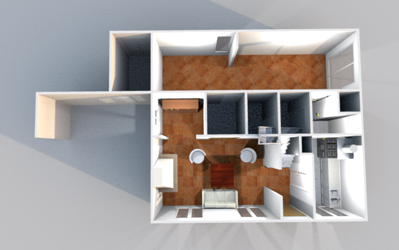 3D Rez de Chaussée (Illustration)