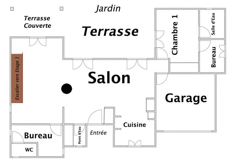 Rez de Chaussée (Habitation principale)