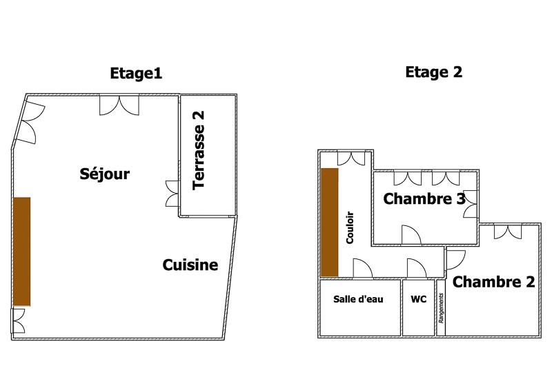 plan étages 2 et 3