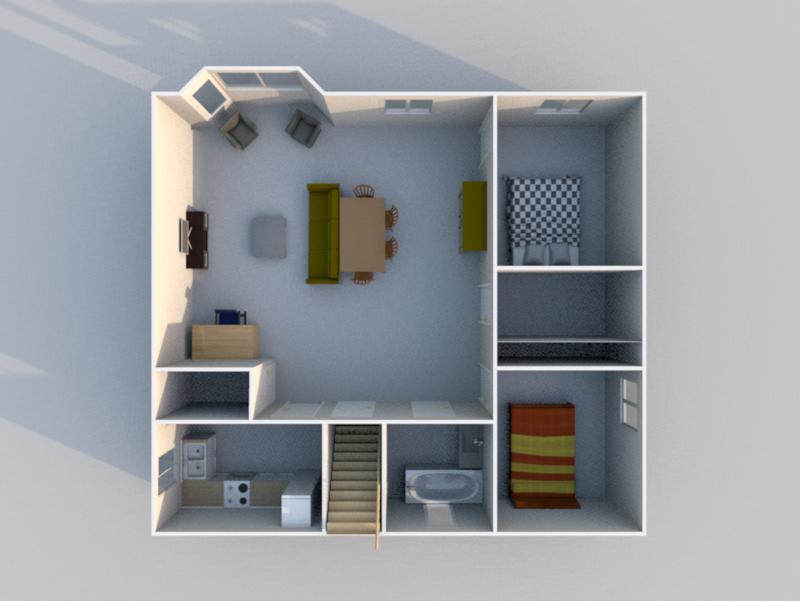 Plan 3D RDC