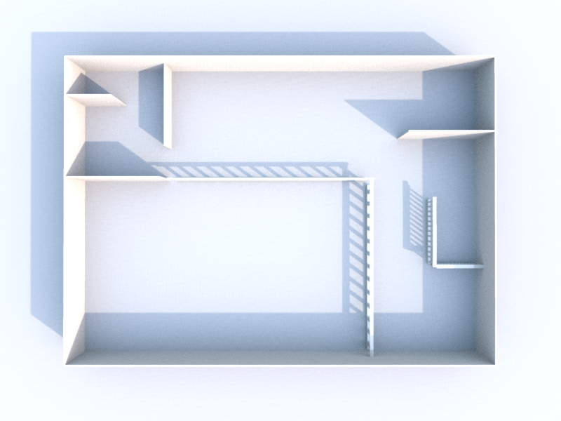 Plan 3D mezzanine