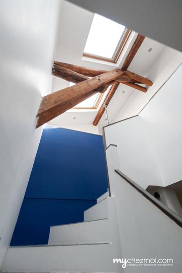 Escalier vers niveau 2