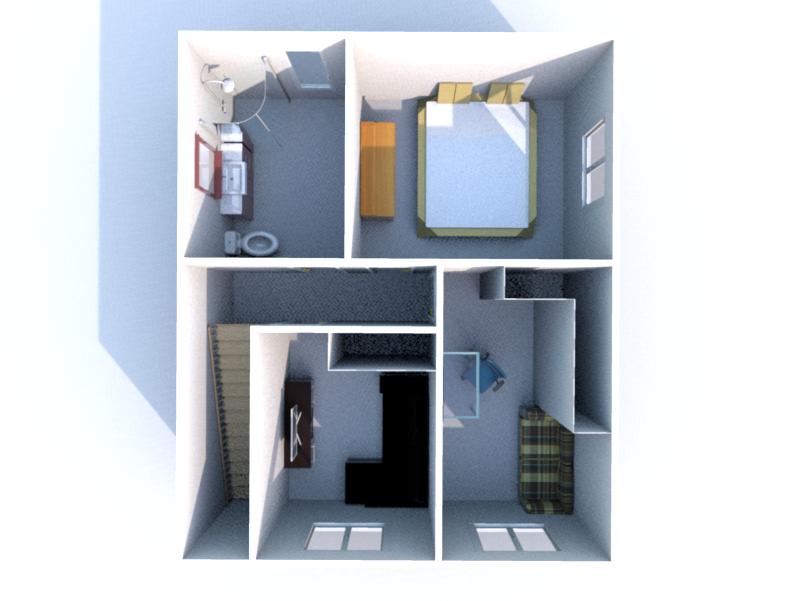 Plan 3D Etage 1