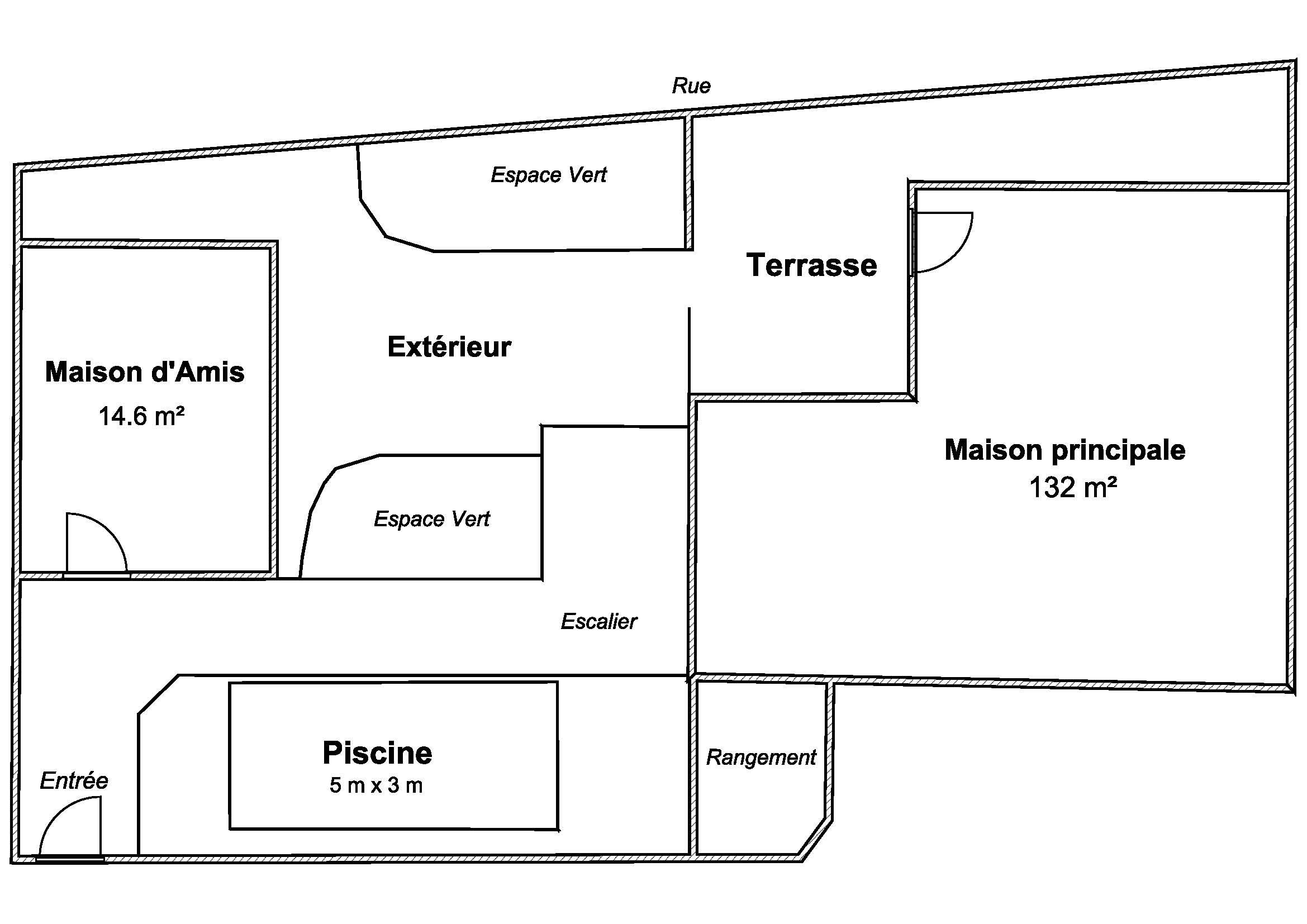 free plan exterieur with plan exterieur maison. Black Bedroom Furniture Sets. Home Design Ideas