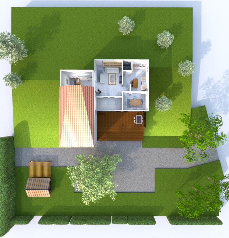3d Rez de Jardin ( Illustration)