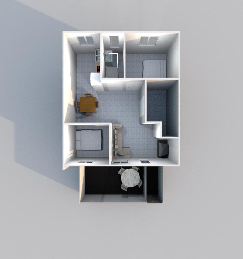 Etage 1 3D (Illustration)