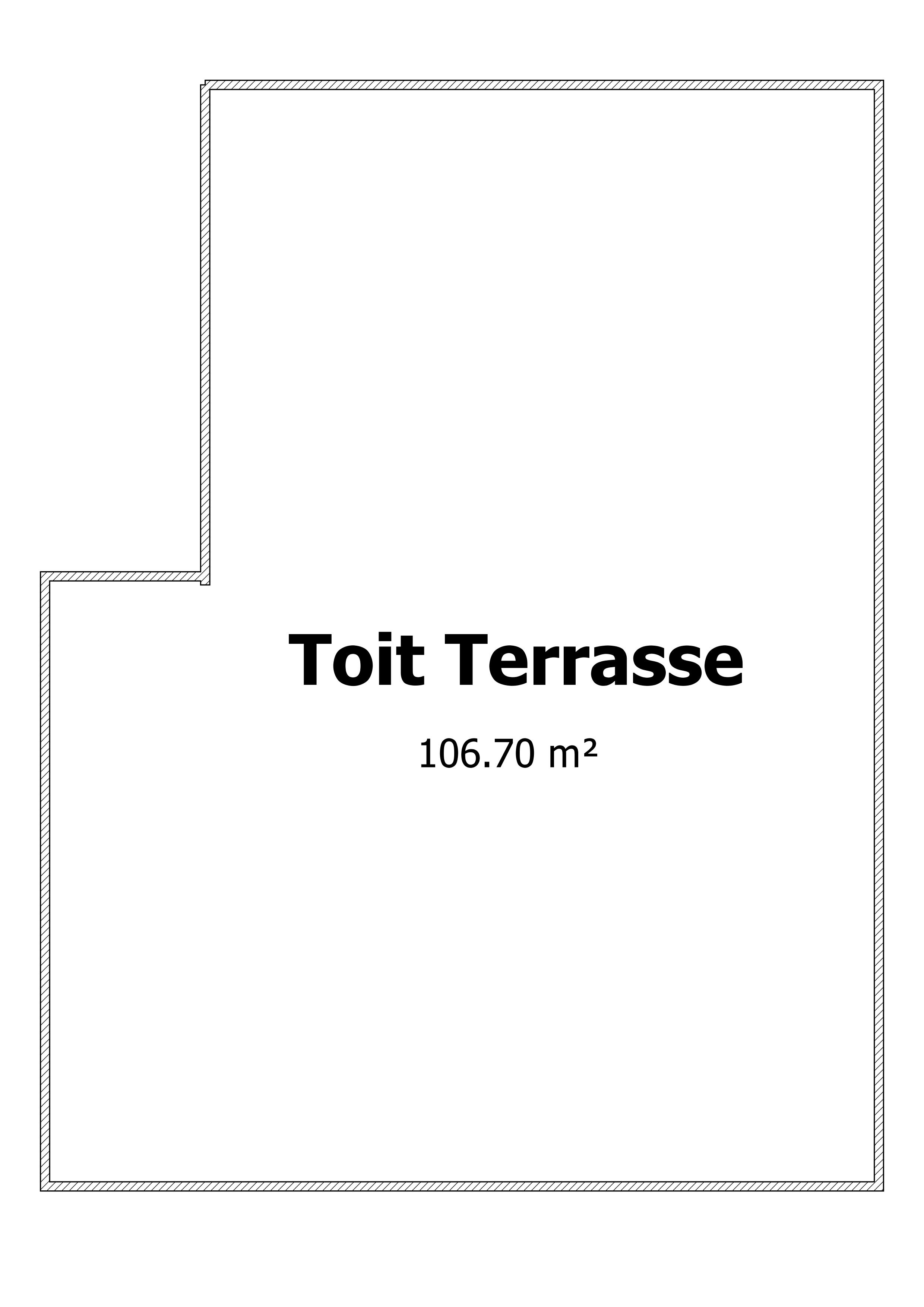 Plan Toit Terrasse