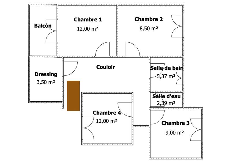 Plan étage ZOOM